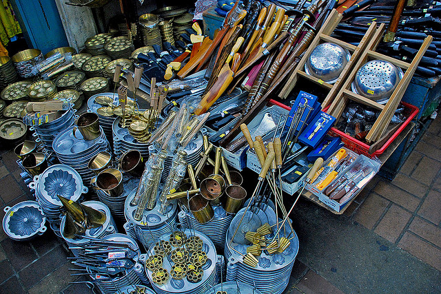Terengganu Brass Handicraft at Pasar Payang.